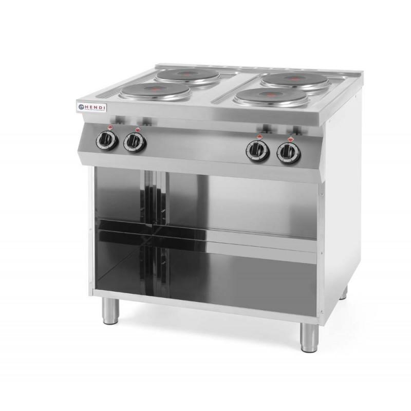 Kuchenka elektryczna 4 palnikowa bez piekarnika HENDI -> Kuchnia Elektryczna Turystyczna