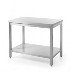 Stół roboczy centralny z półką - skręcany 1800 x 600