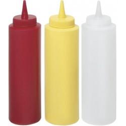 Dyspensery do zimnych sosów 0,70 czerwony zestaw 3 szt.