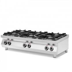 Kuchnia gazowa 6-palnikowa Kitchen Line, stołowa