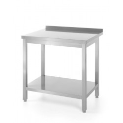Stół roboczy przyścienny z półką - skręcany