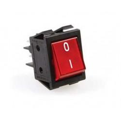 Przełącznik 2-biegunowy czerwony 16A 250V