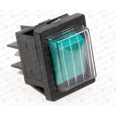 Przełącznik 2-biegunowy zielony 16A 250V
