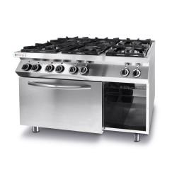 Kuchnia gazowa 6 palnikowa konwekcyjny piekarnik elektryczny