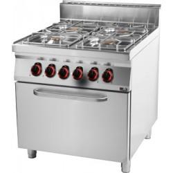 Kuchnia gazowa z piekarnikiem elektrycznym GN 2/1 RED FOX SPT 90/80-21 GE linia 900