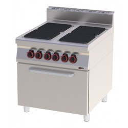 Kuchnia elektryczna z piekarnikiem statycznym GN 1/1 RED FOX SPQT 90/80 - 21 E