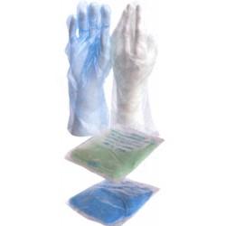 Rękawice męskie PE 37 cm - 100szt.