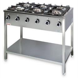 Kuchnia - 6 palaników - KG-6M - Kromet
