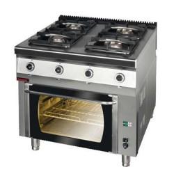 Kuchnia z piekarnikiem gaz 4 palnikowa 700.KG-4/PG2