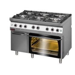 Kuchnia z piekarnikiem gaz- 6 palnikowa 700 KG-6/ PG2