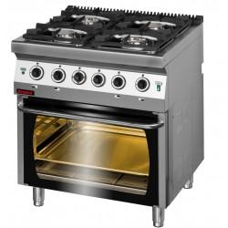 Kuchnia z piekarnikiem elek 4 palnikowa 700 KG4/PE2
