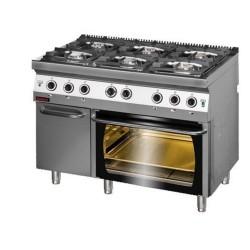 Kuchnia z piekarnikiem elek 6 palnikowa 700 KG-6/PE2
