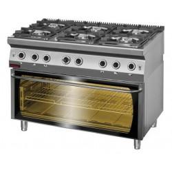 Kuchnia z piekarnikiem elek 6 palnikowa 700 KG-6/PE3