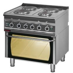 Kuchnia z piekarnikiem el. 4 płyty KROMET 700.KE-4/PE-2