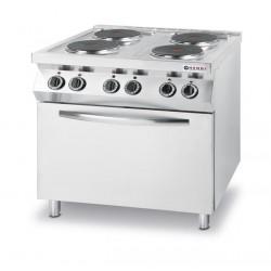 Kuchnia elektryczna - 4-płytowa Kitchen Line z konwekcyjnym piekarnikiem elektrycznym GN 1/1