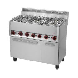 Kuchnia z piekarnikiem 5 palnikowa RED FOX KSPT -99/5 S GE 600