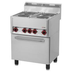 Kuchnia z piekarnikiem EL. 4 płytowa RED FOX KSPT-66 ET 600