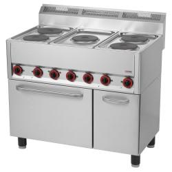 Kuchnia z piekarnikiem el. 5 płytowa RED FOX KSPT -99/5 ET 600