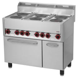 Kuchnia z piekarnikiem el. 6 płytowa RED FOX KSPT -99 ET 600