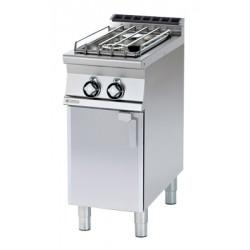 Kuchnia gazowa z szafką - RM GASTRO PC-74 G/P