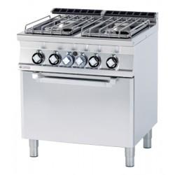 Kuchnia gazowa z piekarnikiem gaz RM GASTRO CF4-78G/P
