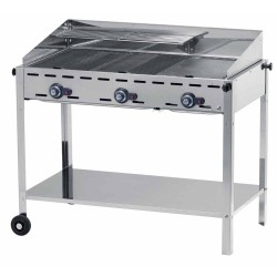 GRILL GAZOWY GREEN FIRE KITCHEN LINE 2-PALNIKI - HENDI