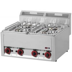 Kuchnia gazowa gastronomiczna 4 pal RED FOX SP-60 GL 600 13,2 KW