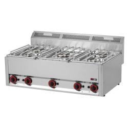 Kuchnia gazowa gastronomiczna 5 pal RED FOX SP - 90 5GL 600