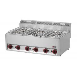 Kuchnia gazowa gastronomiczna 6 pal RED FOX SP-90 GL 600
