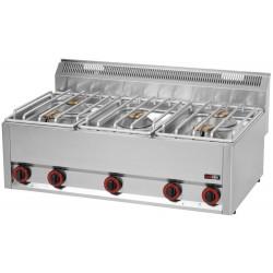 Kuchnia gazowa gastronomiczna 5 pal RED FOX 600 SP-90 /5GLS
