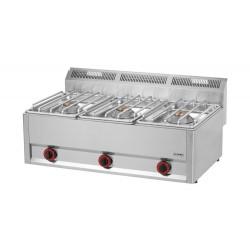 Kuchnia gazowa gastronomiczna 3 pal RED FOX SP -90/3GLS 600 13,5 KW