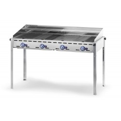 GRILL GAZOWY GREEN FIRE KITCHEN LINE 4-PALNIKI - HENDI